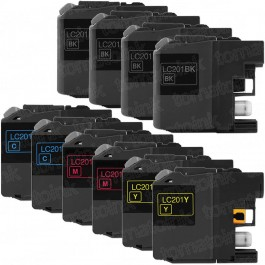 Brother LC201 Black & Color 10-pack Ink Cartridges