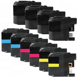Brother LC207 & LC205 Black & Color 10-pack XXL Ink Cartridges