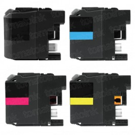 Brother LC207 & LC205 Black & Color 4-pack XXL Ink Cartridges