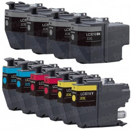 Brother LC3019 Black & Color 10-pack High Yield Ink Cartridges