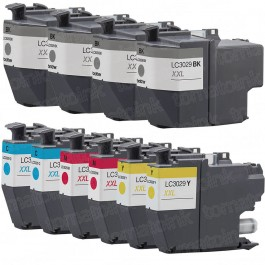 Brother LC3029 Black & Color 10-pack High Yield Ink Cartridges