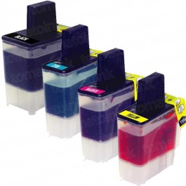 Brother LC41 Black & Color 4-pack Ink Cartridges
