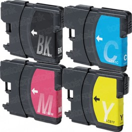 Brother LC65 Black & Color 4-pack High Yield Ink Cartridges