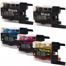 Brother LC75 Black & Color 5-pack High Yield Ink Cartridges