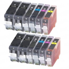 Canon PGI-5 & CLI-8 Black & Color 12-pack Ink Cartridges