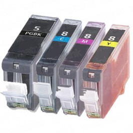Canon PGI-5 & CLI-8 Black & Color 4-pack Ink Cartridges