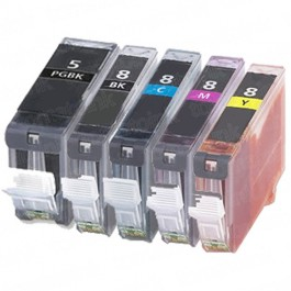 Canon PGI-5 & CLI-8 Black & Color 5-pack Ink Cartridges