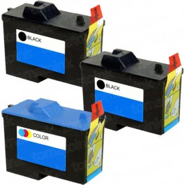 Dell (Series 2) 7Y743 Black & 7Y745 Color 3-pack Ink Cartridges