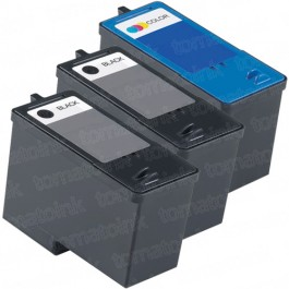 Dell (Series 5) M4640 Black & M4646 Color 3-pack Ink Cartridges
