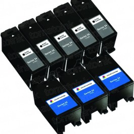 Dell (Series 24) T109N Black & T110N Color 8-pack Ink Cartridges