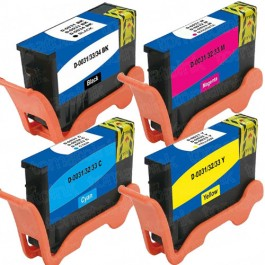 Dell (Series 31) Black & Color 4-pack Ink Cartridges