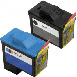 Dell (Series 1) T0529 Black & T0530 Color 2-pack Ink Cartridges