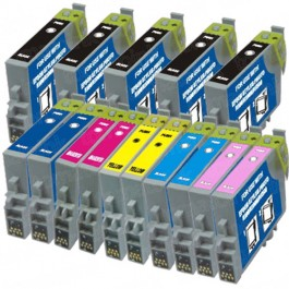Epson 48 T048 Black & Color 15-pack Ink Cartridges