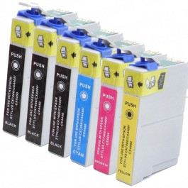 Epson 88 T088 Black & Color 6-pack High Yield Ink Cartridges