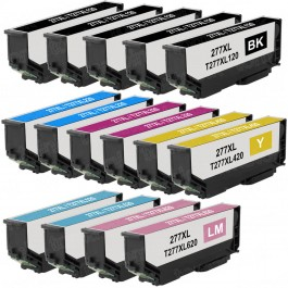 Epson 277XL T277XL Black & Color 15-pack HY Ink Cartridges