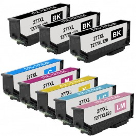 Epson 277XL T277XL Black & Color 8-pack HY Ink Cartridges
