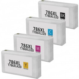 Epson 786XL T786XL Black & Color 4-pack HY Ink Cartridges