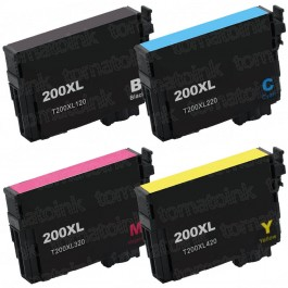 Epson 200XL T200XL Black & Color 4-pack HY Ink Cartridges