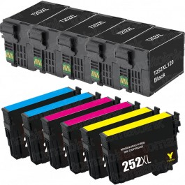 Epson 252XL T252XL Black & Color 11-pack HY Ink Cartridges