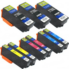 Epson 273XL T273XL Black & Color 9-pack HY Ink Cartridges