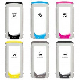 HP 72 Black & Color 6-pack Ink Cartridges 130ml