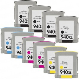 HP 940XL Black & Color 10-pack High Yield Ink Cartridges