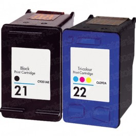 HP 21 Black & HP 22 Color 2-pack Ink Cartridges