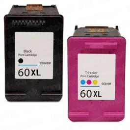 HP 60XL High Yield Black & Color 2-pack Ink Cartridges