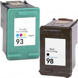 HP 98 Black & HP 93 Color 2-pack Ink Cartridges