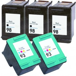HP 98 Black & HP 93 Color 5-pack Ink Cartridges