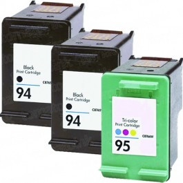 HP 94 Black & HP 95 Color 3-pack Ink Cartridges