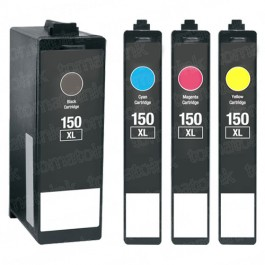 Lexmark 150XL Black & Color 4-pack High Yield Ink Cartridges