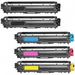 Brother TN221 Black & TN225 Color 5-pack HY Toner Cartridges