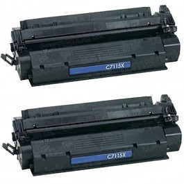 HP 15X (C7115X) 2-pack High Yield Black Toner Cartridges