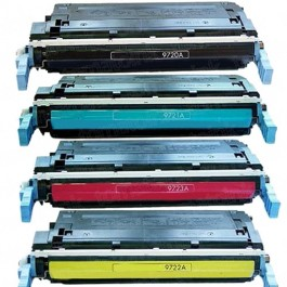 HP 641A (C9720-3A) 4-pack Laser Toner Cartridges