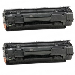 HP 36A (CB436A) 2-pack Black Toner Cartridges