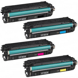 HP 508X CF360-3X 4-pack High Yield Laser Toner Cartridges