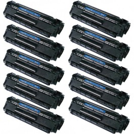 HP 12A (Q2612A) 10-pack Black Toner Cartridges