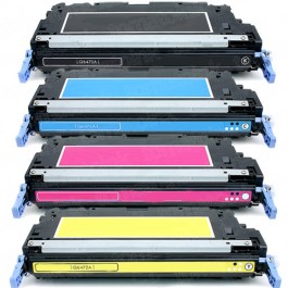 HP 501A / 502A (Q6470-3A) 4-pack Laser Toner Cartridges