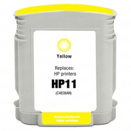 HP 11 C4838AN C4838A Yellow Ink Cartridge