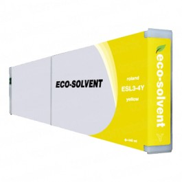 Roland ESL3-4Y Eco-Sol Max Yellow Ink Cartridge