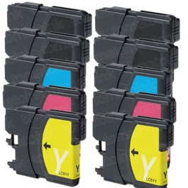 Brother LC61 Black & Color 10-pack Ink Cartridges