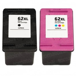 HP 62XL High Yield Black & Color 2-pack Ink Cartridges