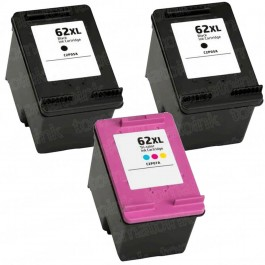 HP 62XL High Yield Black & Color 3-pack Ink Cartridges
