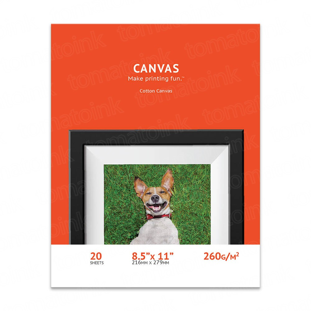 8.5 x 11 Cotton Inkjet Canvas