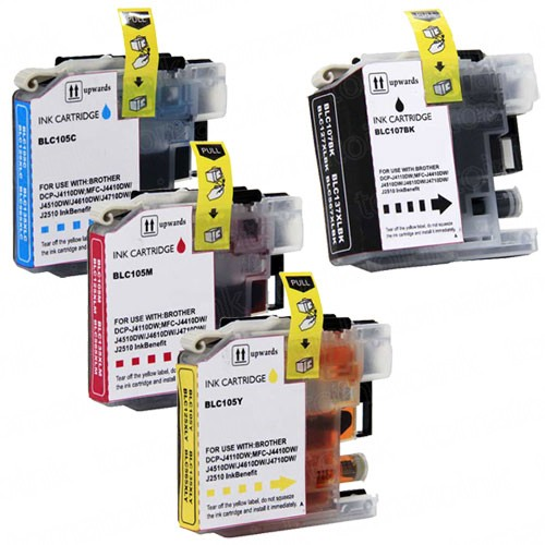 Brother LC107 & LC105 XXL Black & Color 4-pack Ink Cartridges