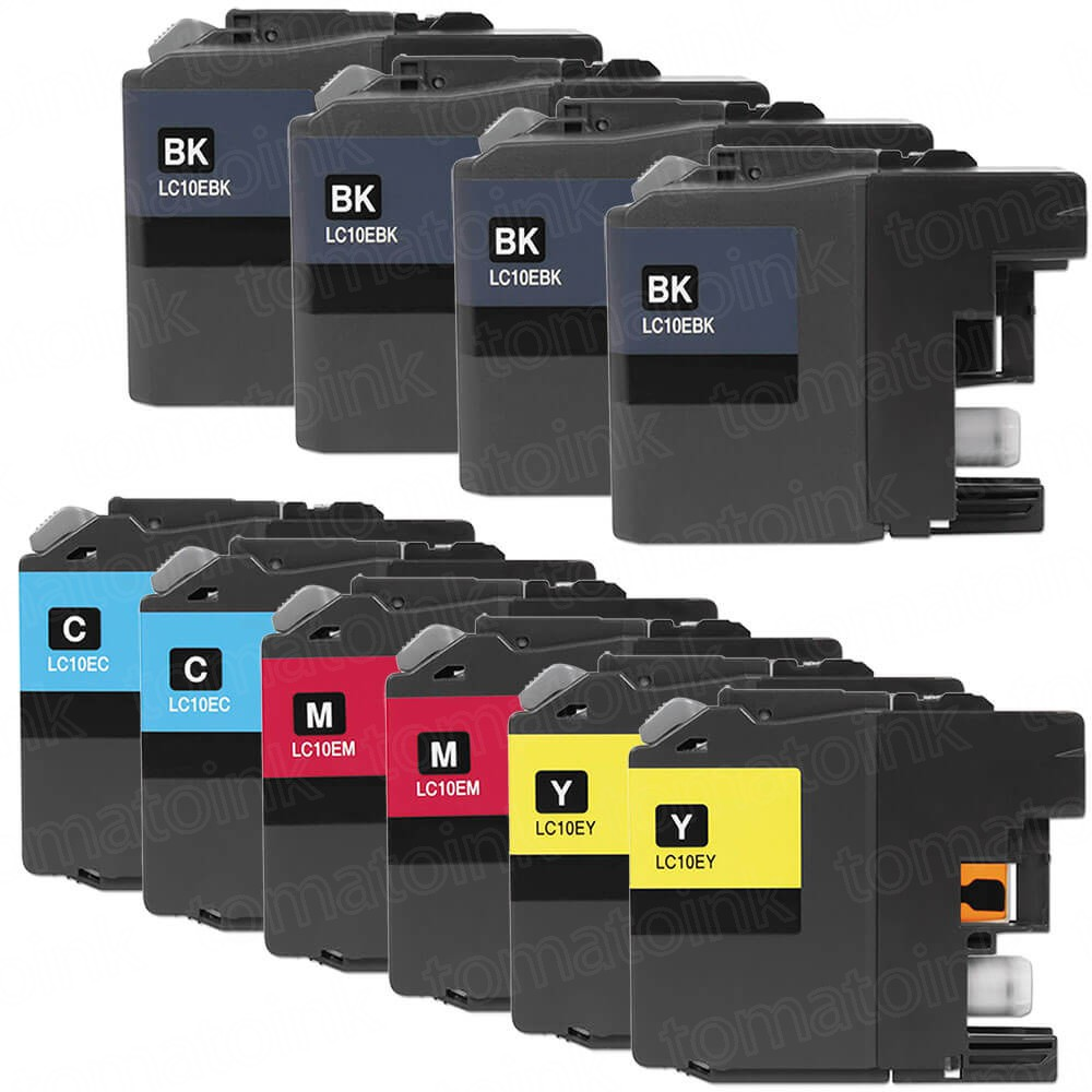 Brother LC10E Black & Color 10-pack High Yield Ink Cartridges