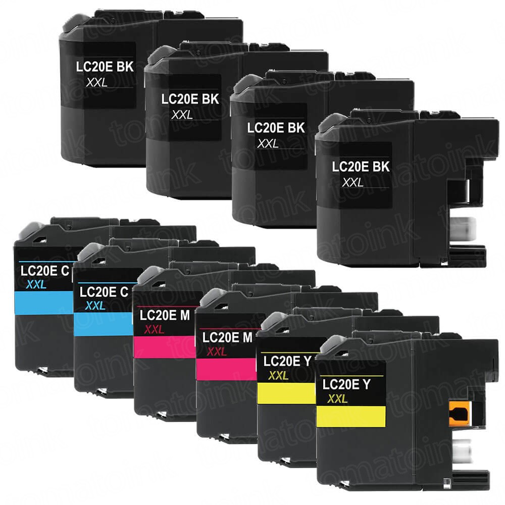 Brother LC20E Black & Color 10-pack High Yield Ink Cartridges
