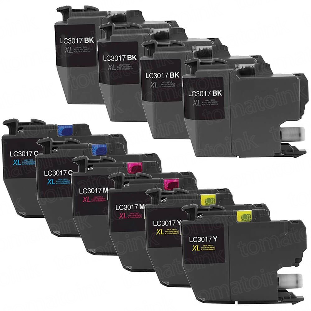 Brother LC3017 Black & Color 10-pack High Yield Ink Cartridges