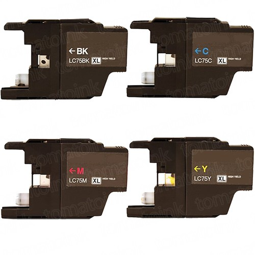 Brother LC75 Black & Color 4-pack High Yield Ink Cartridges